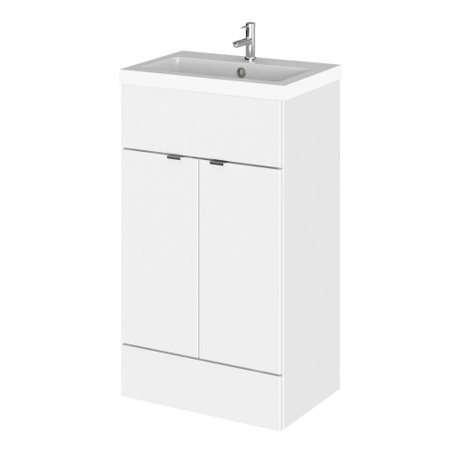 Elite White Gloss 500mm Full Depth Vanity Unit & Basin